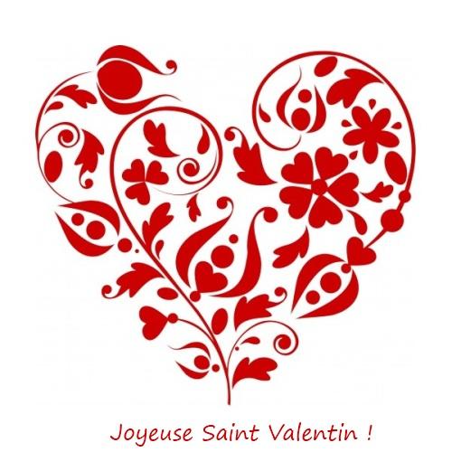 Carte Joyeuse fête de Saint Valentin