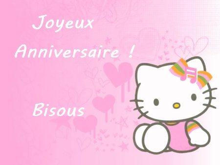 carte danniversaire hello kitty - Hello Kitty Anniversaire