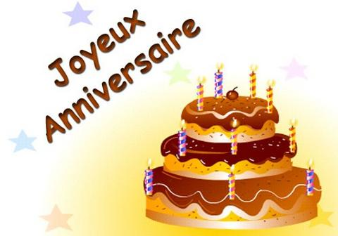 Carte joyeux anniversaire gteau