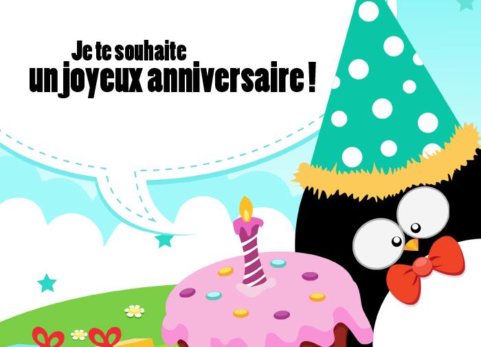 bon anniversaire je te souhaite