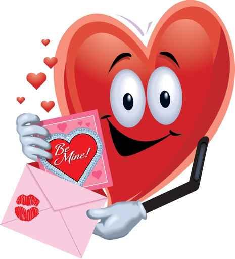 Coeur de Saint Valentin - Be mine - Carte virtuelle amour