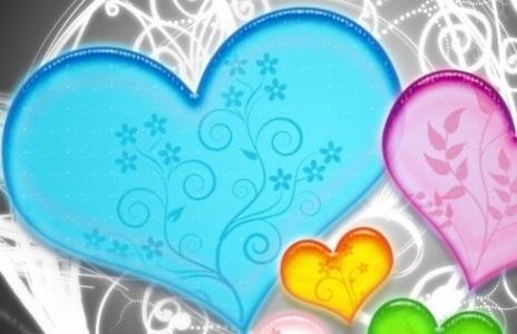 Carte d'amour et petits coeurs - carte virtuelle gratuite