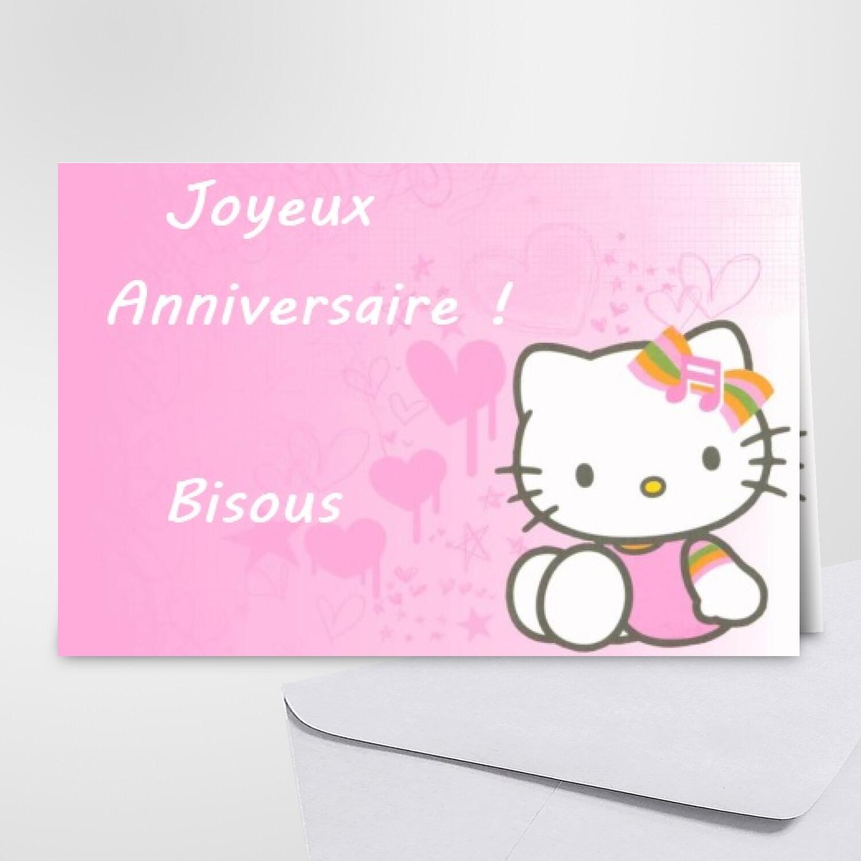 Carte D Anniversaire Hello Kitty Carte Chat Gratuite