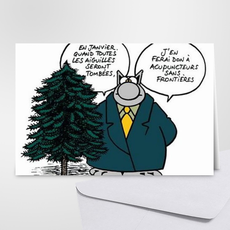 Carte Joyeux Noël - Geluck - Carte gratuite Carte joyeux Noël
