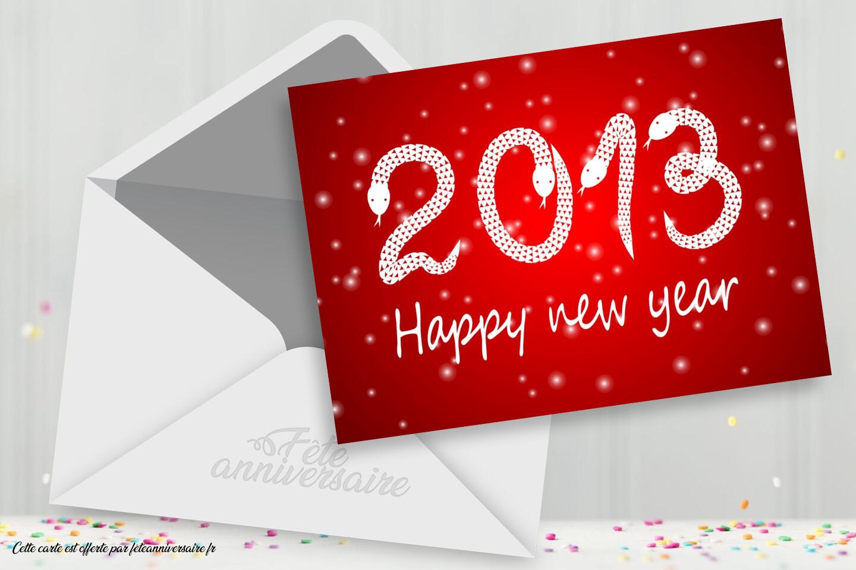 Bonne année ! Carte de Bonne année