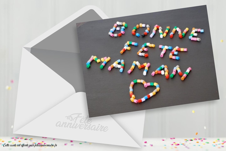 Bonne fête maman ! Carte virtuelle à envoyer pour la fête des mères