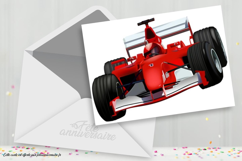 Carte Anniversaire Formule 1 Carte Course Voiture