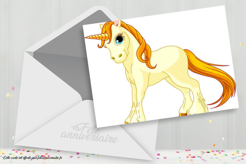 Carte Anniversaire Licorne Pour Fille Decouvrez Notre Carte Pour Fille