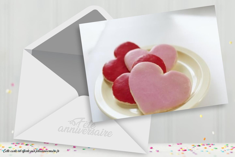 Carte anniversaire petits coeurs pour dire votre amour à une personne
