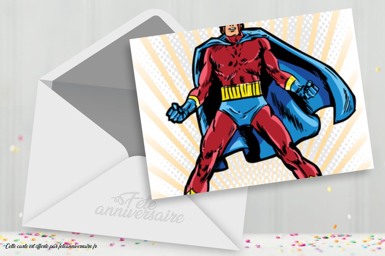 Carte Anniversaire Gratuite Super Heros Pour Enfant