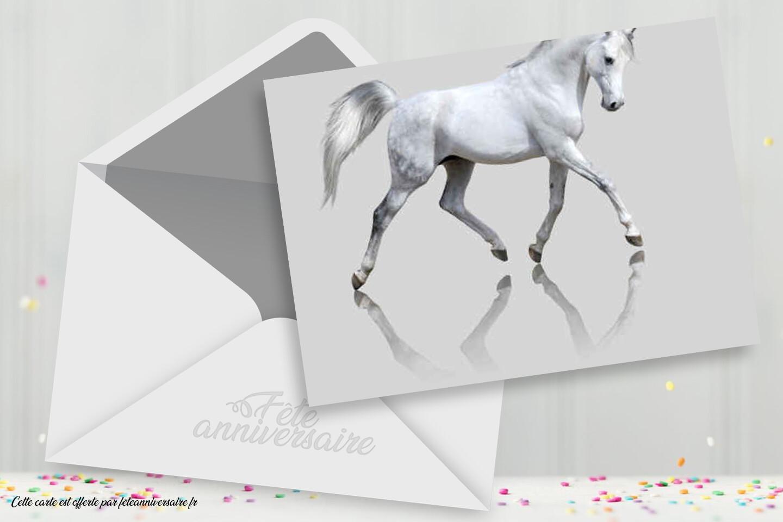 Carte cheval blanc
