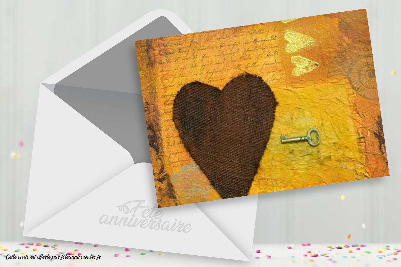 Carte gratuite clé de mon coeur - Carte à partager ou à envoyer gratuitement
