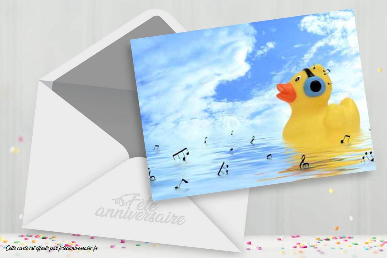 Carte d'anniversaire canard