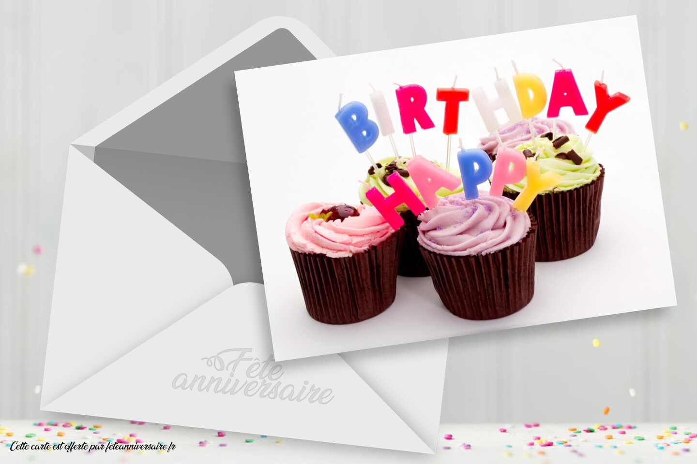 Carte d'anniversaire : des gâteaux pour ton anniversaire
