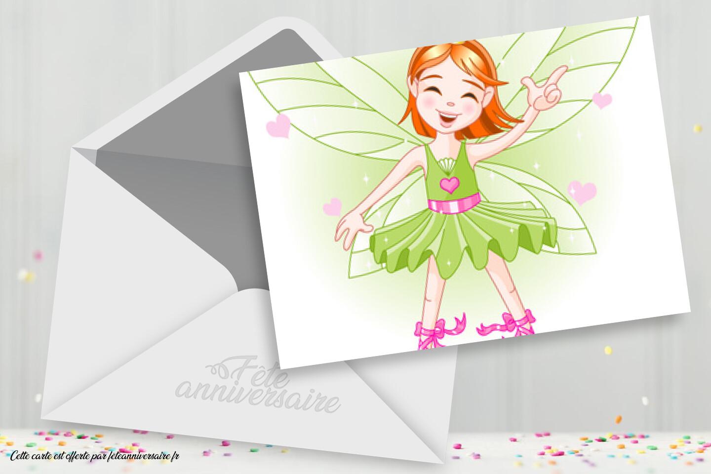 Carte D Anniversaire Fee Clochette Carte D Anniversaire Petite Fille
