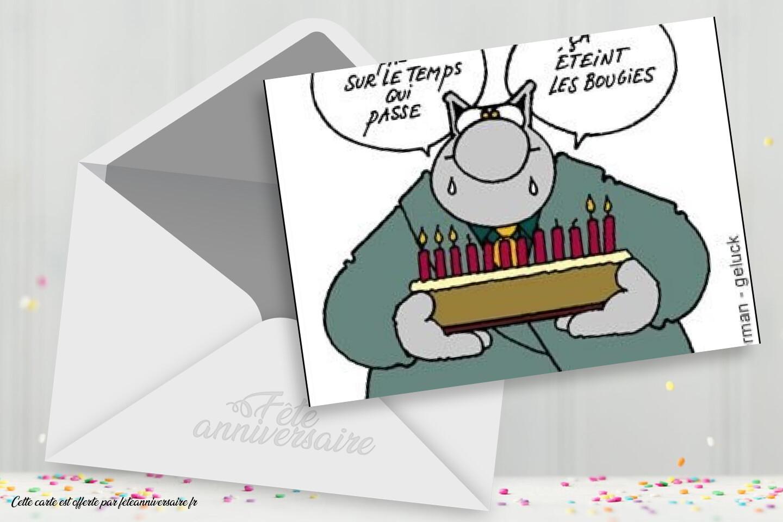 Carte d'anniversaire humour