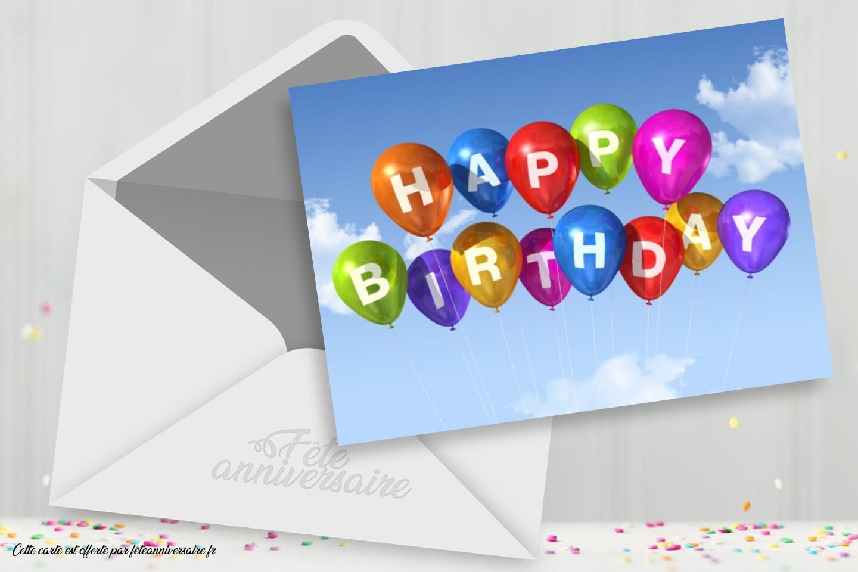 Carte d'anniversaire gratuite : joyeux anniversaire