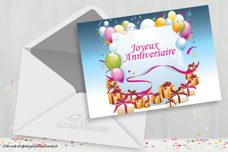 Carte D Anniversaire Joyeux Anniversaire Enfant