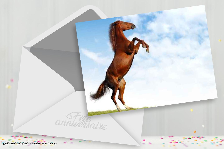 Carte d'anniversaire virtuelle cheval