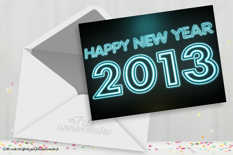 Carte de voeux 2013 gratuite à envoyer à tous vos amis !