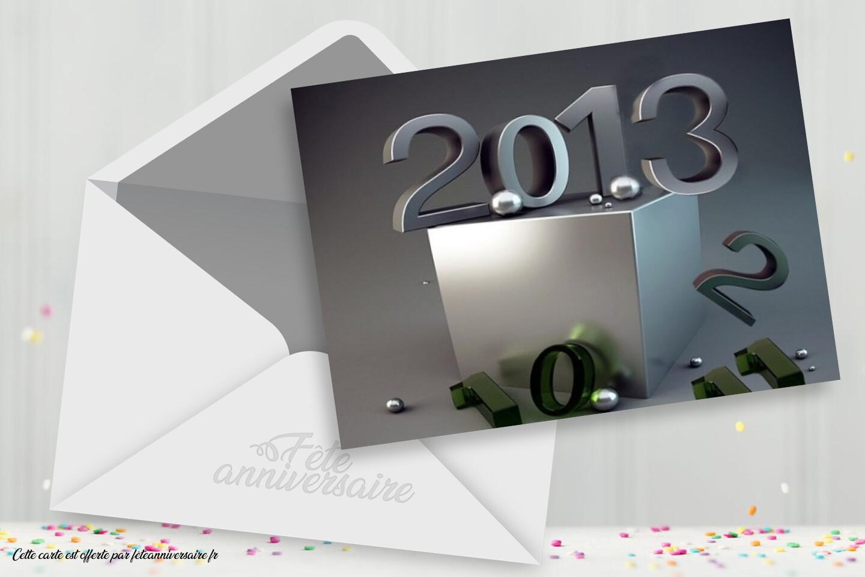 Carte de voeux gratuite de Bonne Année