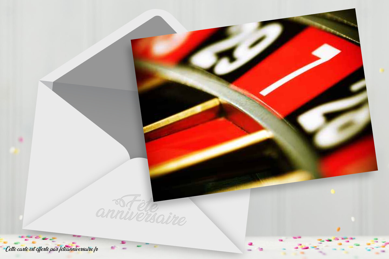 Carte d'invitation Casino