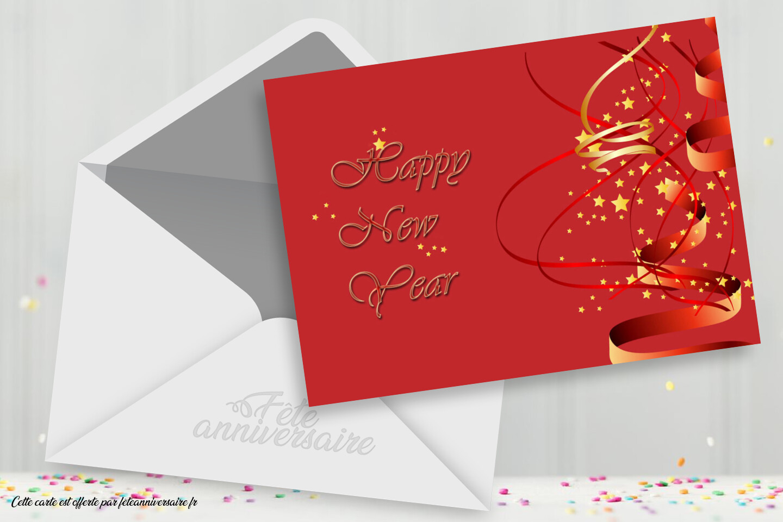 Carte Joyeuses fêtes de fin d'année