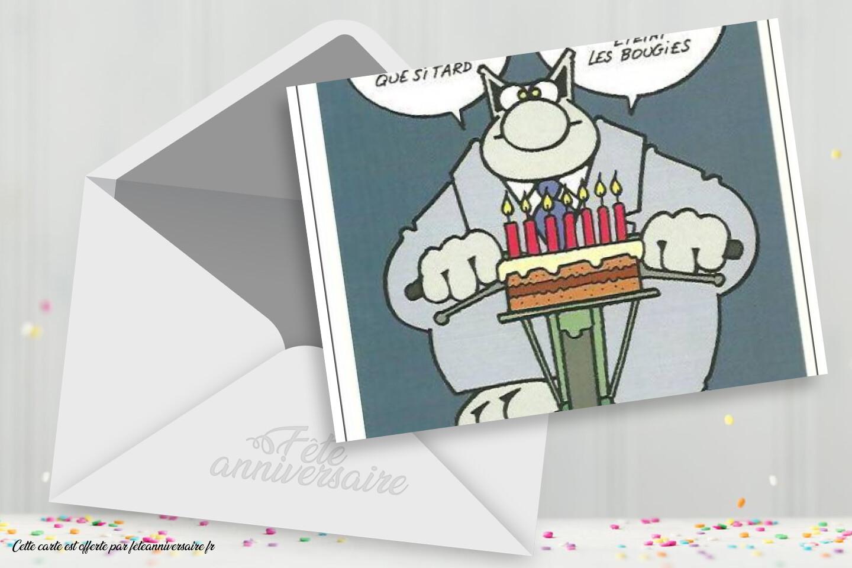 Carte Joyeux Anniversaire Geluck - En retard