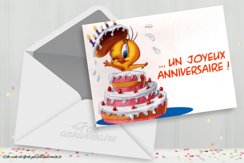 Carte Joyeux Anniversaire Titi Carte Gratuite Avec Titi