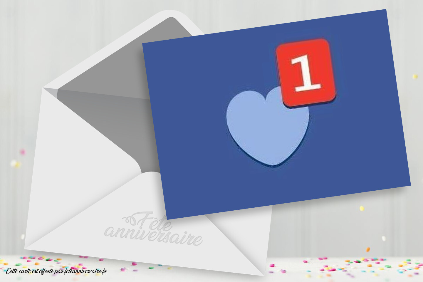 Carte message d'amour Facebook