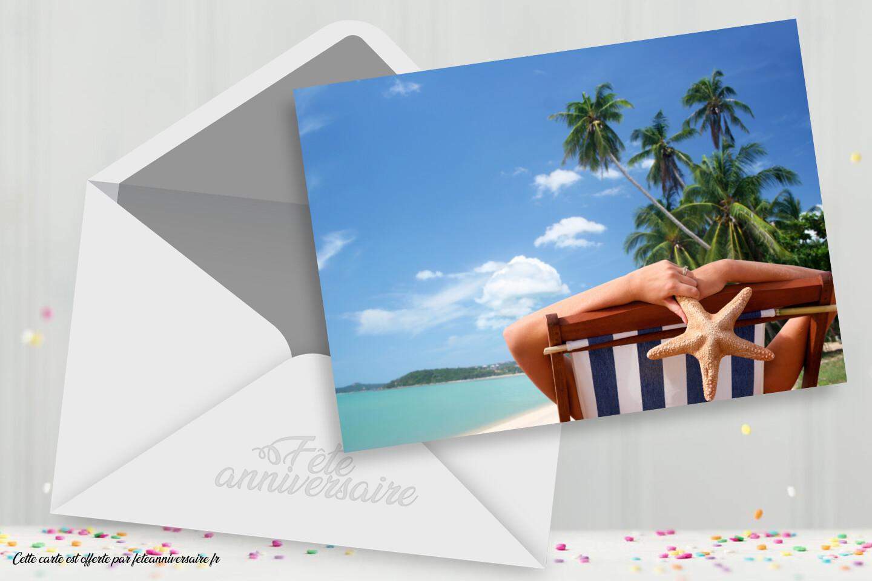 Carte postale vacances farniente