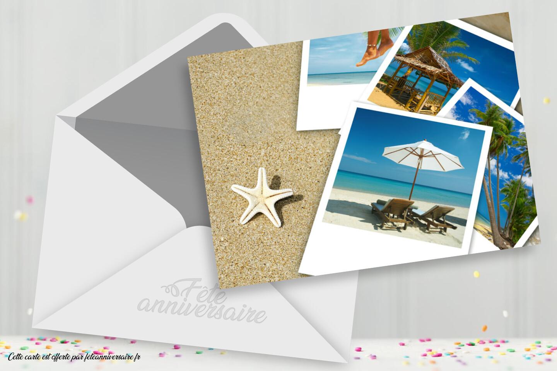 Carte postale Vacances