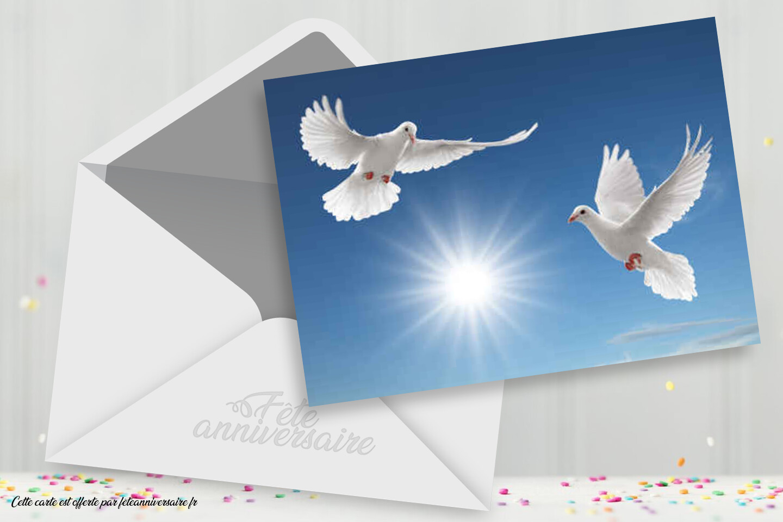 Carte Pour Mariage Colombes Carte Gratuite Carte Mariage