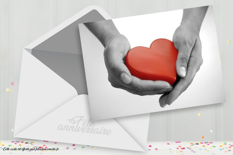 Carte Je t'offre mon coeur - carte virtuelle gratuite