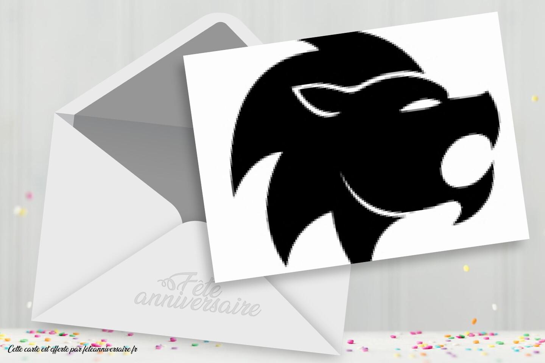 Carte signe astrologique lion