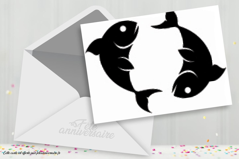 Carte signe astrologique poissons