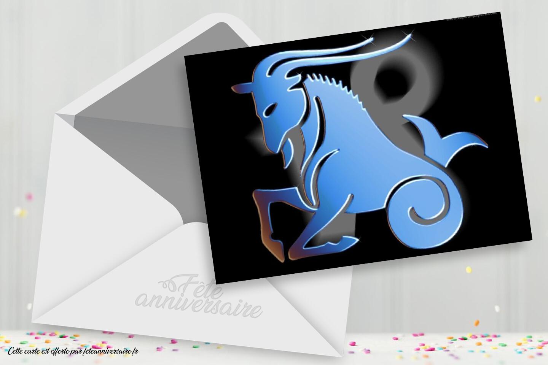Carte signe du zodiaque : Le capricorne