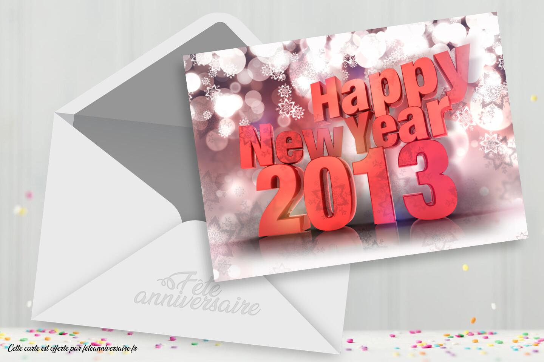 Carte virtuelle Bonne Année !