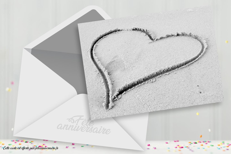 """Carte virtuelle """"Je t'aime mon coeur"""" - carte gratuite sur fêteanniversaire.fr"""