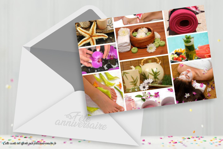 Carton d'invitation bien-être