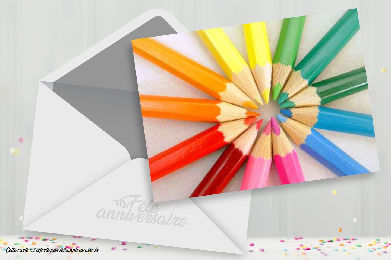 Carton d'invitation enfants pour anniversaire enfant