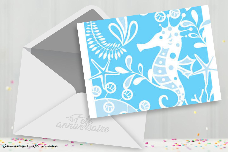 Carton d'invitation pour anniversaire enfant