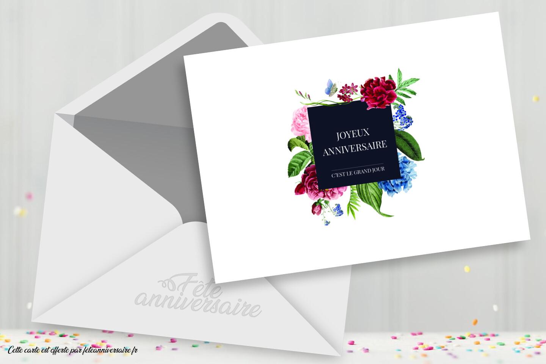 C'est le grand jour : Carte gratuite joyeux anniversaire