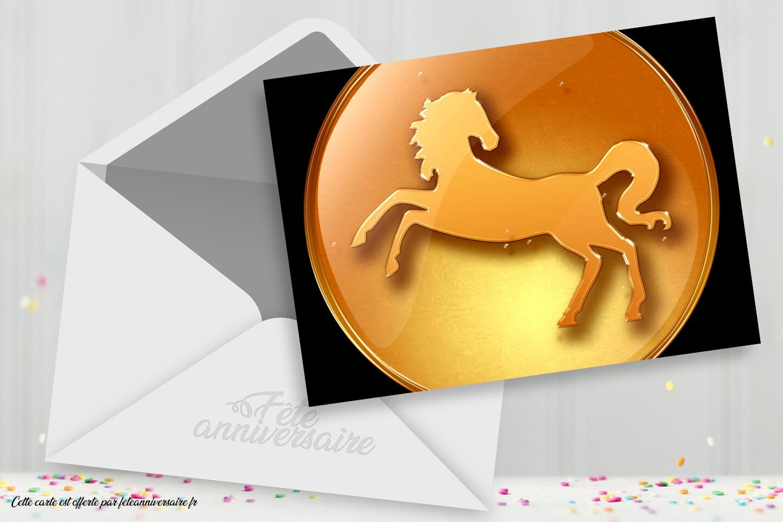 Ecarte cheval - Signe chinois cheval