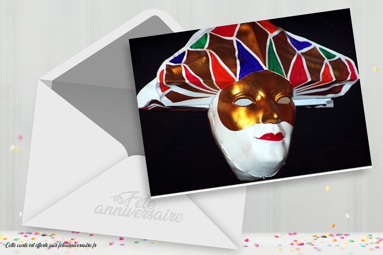 Invitation soirée à thème Carnaval de Venise