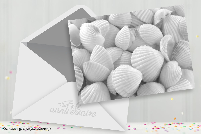 Invitation coquillage - carton d'invitation coquillage