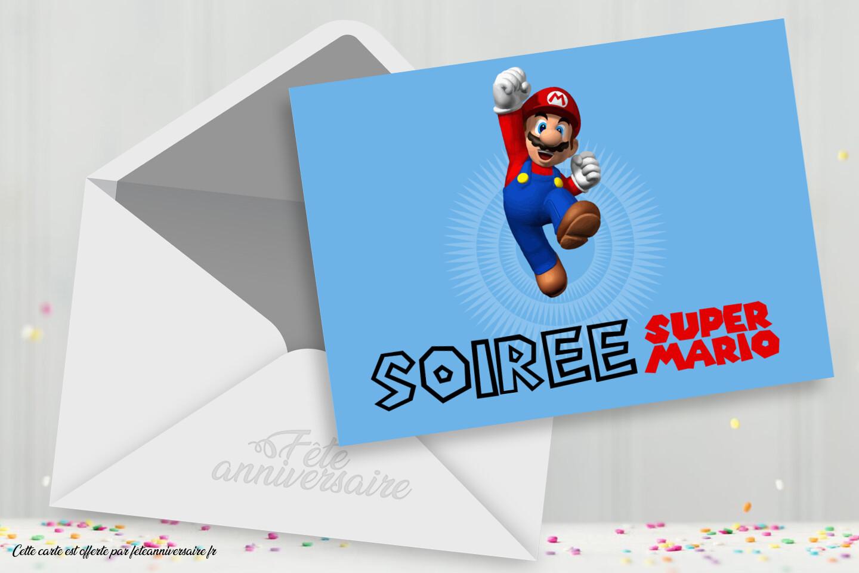 Invitation Super Mario