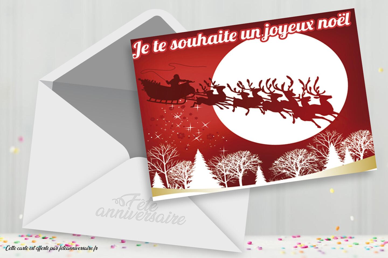 Jolie Carte Je Te Souhaite Un Joyeux Noel