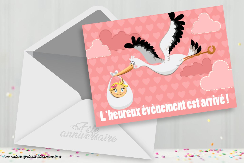 La Petite Est Arrivee Carte Gratuite Naissance