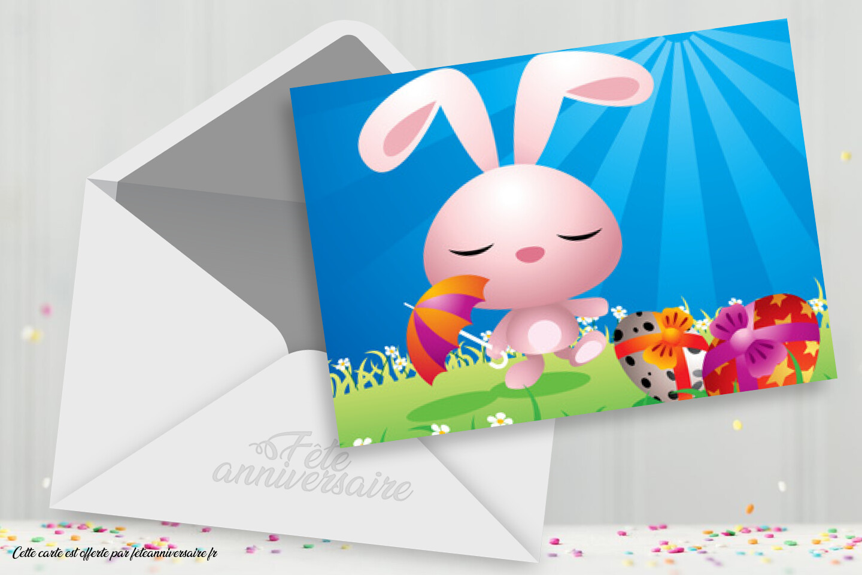 Lapin - Carte virtuelle Joyeuses pâques